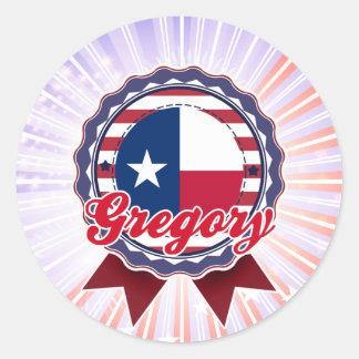 Gregory, TX Etiquetas Redondas