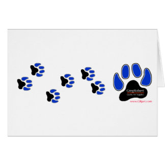 GregRobert Official Paw Print Designer Card