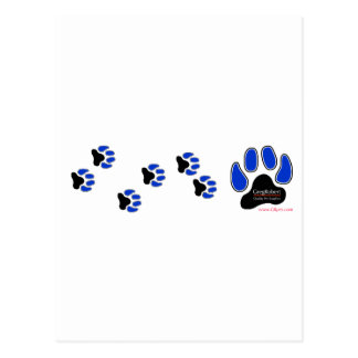 GregRobert Official Paw Print Designer Post Card
