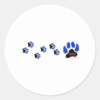 GregRobert Official Paw Print Designer Round Sticker