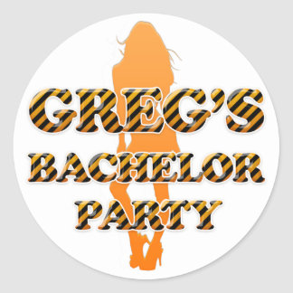Greg's Bachelor Party Classic Round Sticker