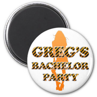 Greg's Bachelor Party Refrigerator Magnets