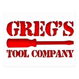Greg's Tool Company Postcard