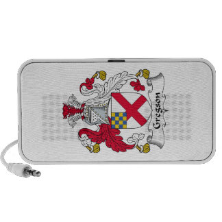 Gregson Family Crest iPhone Speakers
