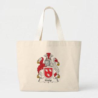 Greig Family Crest Large Tote Bag