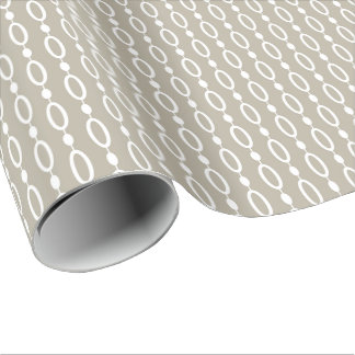 Greige - Grey and Beige Decor Wrapping Paper