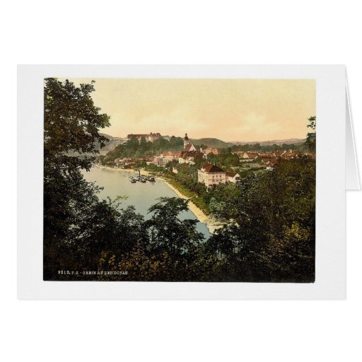 Grein, foto de la obra clásica de Austria septentr Felicitacion