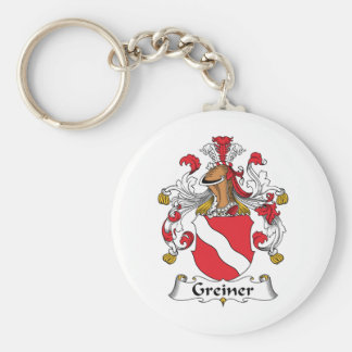 Greiner Family Crest Basic Round Button Keychain
