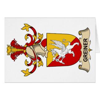 Greiner Family Crest Card