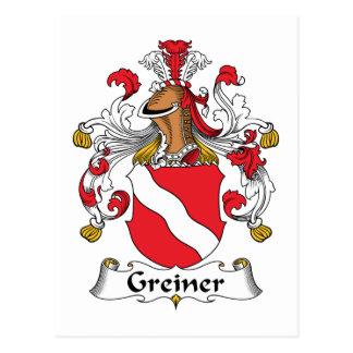 Greiner Family Crest Postcard