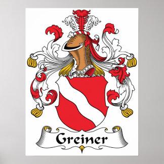Greiner Family Crest Poster