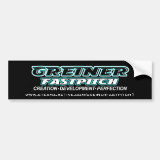GREINER FASTPITCH bumper sticker