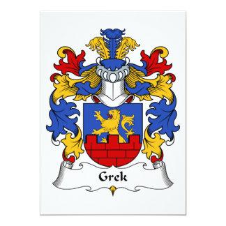 Grek Family Crest Card