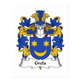 Grela Family Crest Postcard