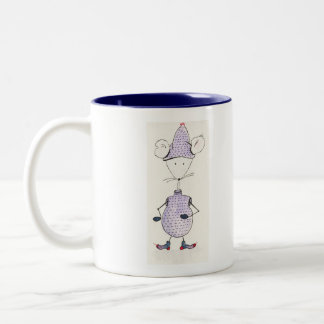 Grelote, sensitive to the cold mouse Two-Tone coffee mug
