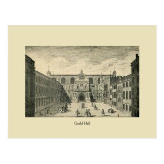 Gremio antiguo Pasillo de Londres Tarjeta Postal