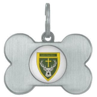 Gremio de la etiqueta del mascota de Huberto del s Placas De Nombre De Mascota
