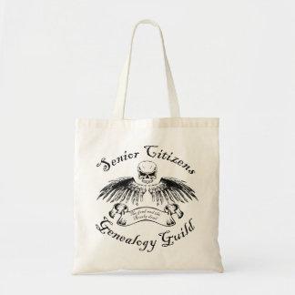 Gremio de la genealogía de los jubilados bolsas de mano