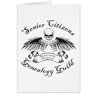 Gremio de la genealogía de los jubilados tarjeta de felicitación