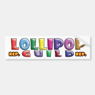 Gremio del Lollipop Pegatina Para Auto