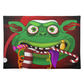 Gremlin Eating Candy Cloth Place Mat