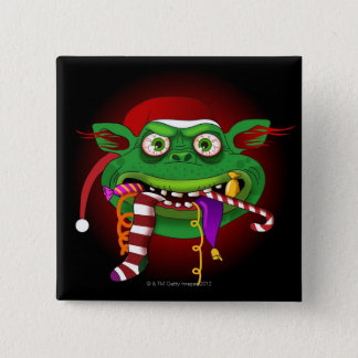 Gremlin Eating Candy Pinback Button