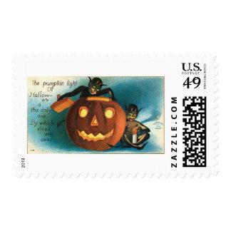 Gremlin Goblin Halloween Vintage Stamp