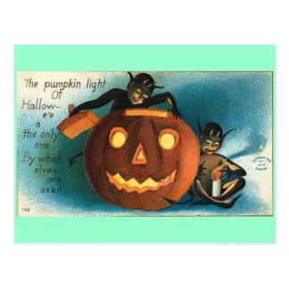 Gremlin Goblin Vintage Pumpkin Postcard
