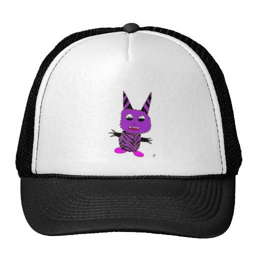 Gremlin púrpura gorros bordados