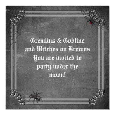 Halloween Themed Gremlins & Goblins Spooky Halloween Card