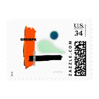 GREMPK Concept Art Gary Revel Postage Stamp