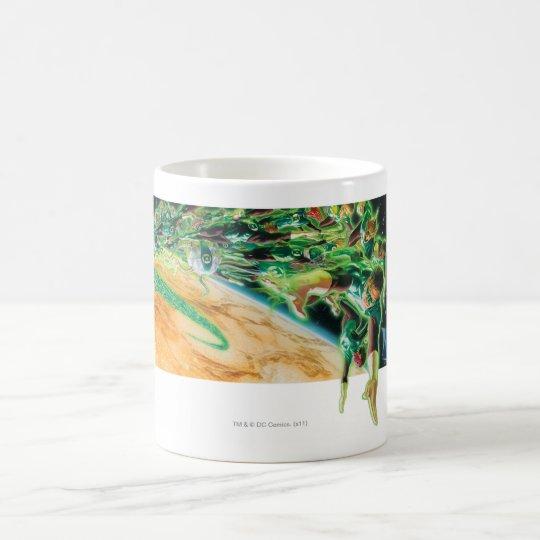 Gren Lanterns Flying in Space Coffee Mug