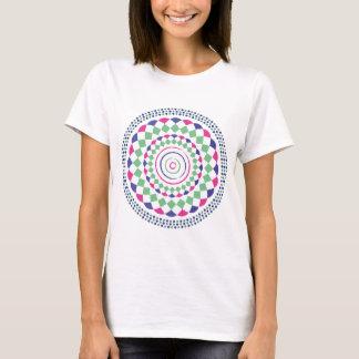 gren red blue geometric pattern T-Shirt
