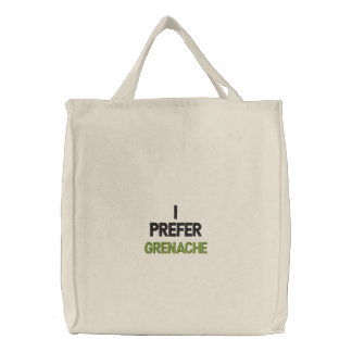 GRENACHE WINE T SHIRT EMBROIDERED TOTE BAG