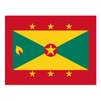Grenada - bandera granadina tarjeta postal