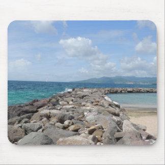 Grenada Beach Jetties Mouse Pad