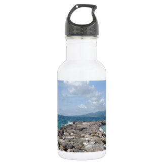 Grenada Beach Jetties Water Bottle