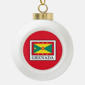 Grenada Ceramic Ball Christmas Ornament