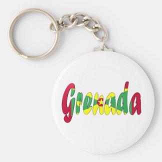 Grenada Flag Basic Round Button Keychain