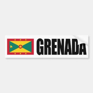 Grenada Flag Car Bumper Sticker