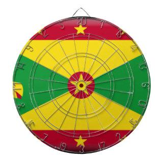 Grenada Flag Dartboard With Darts