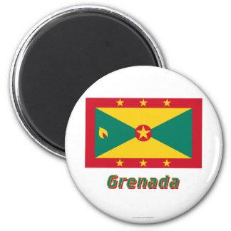 Grenada Flag with Name Fridge Magnet