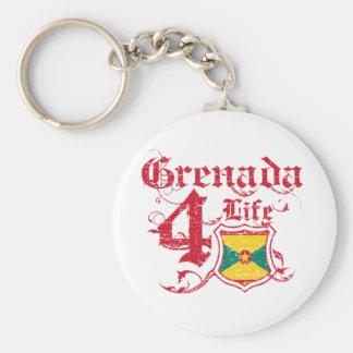 Grenada For Life Basic Round Button Keychain
