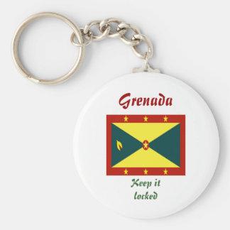 Grenada Gears Basic Round Button Keychain