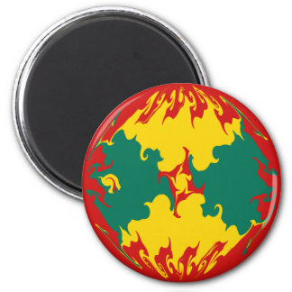 Grenada Gnarly Flag Magnet