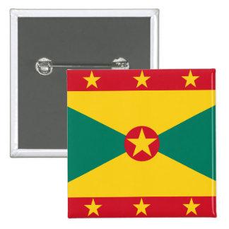 Grenada, Greenland flag Pinback Button