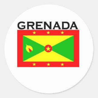 Grenada Pegatinas Redondas