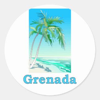 Grenada Pegatina Redonda