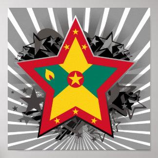 Grenada Star Poster
