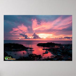 Grenada Sunset Poster